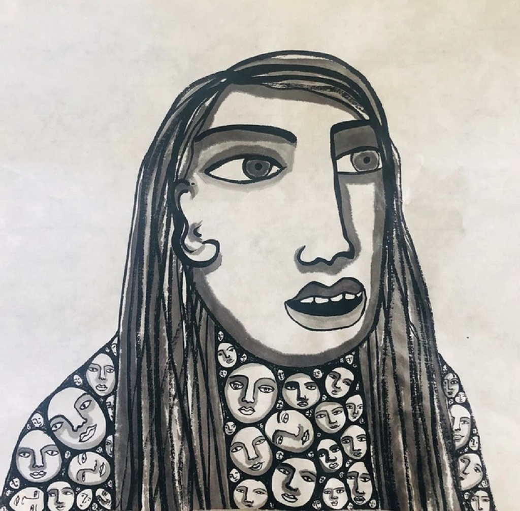 Ink on rice paper by Juliette Lepage Boisdron