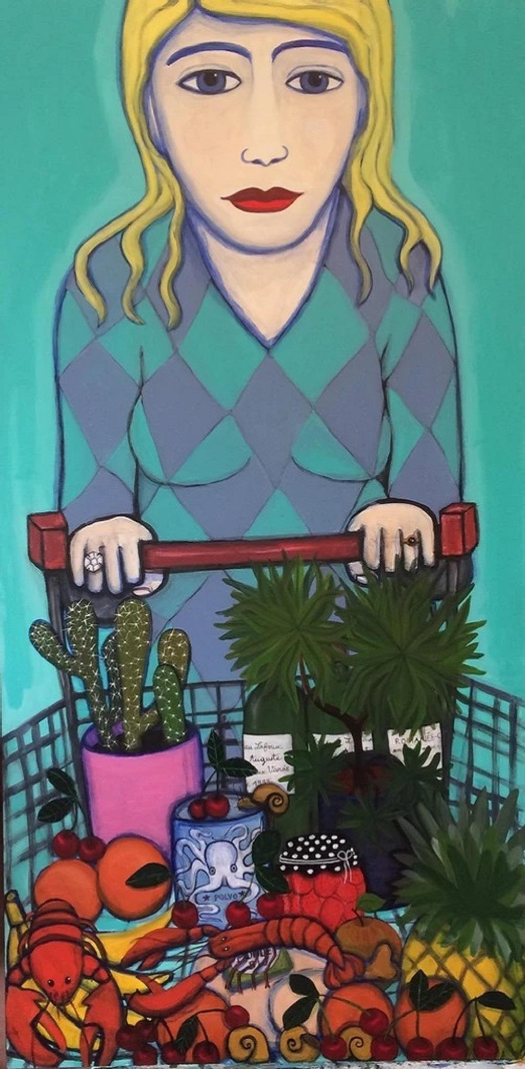 """""""Bananas"""" Acrylic on board by Juliette Lepage Boisdron"""