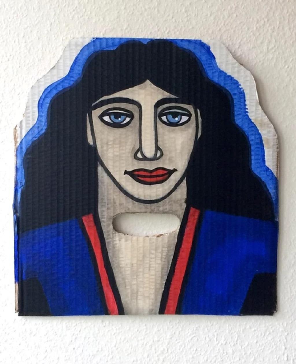 Acrylic on cardboard by Juliette Lepage Boisdron