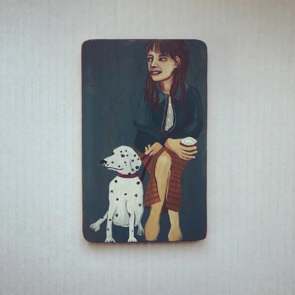 Acrylic on wood by Juliette Lepage Boisdron