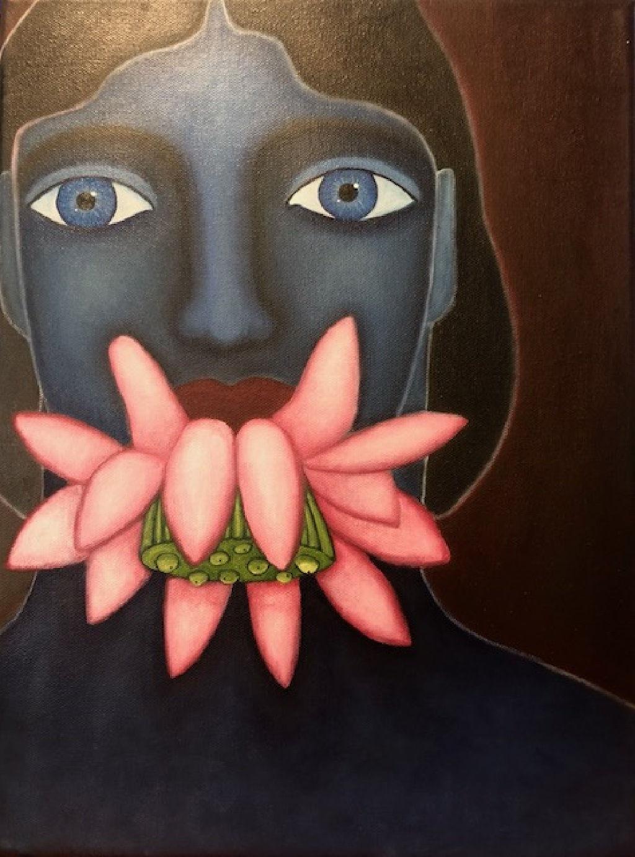 """""""Flower eater"""" Oil on canvas 30,5 X 40,5 cm"""